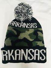 ARKANSAS Military Pom Pom Beanie Hat One Size [GREEN]