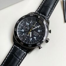 SNDG61P1 Chronograph Black Dial Black Leather Watch for Men COD PayPal