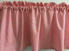 "Christmas Red White Stripe Handmade Valance 41"" x 14"""