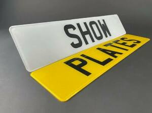 Pair Of Show Custom Plates Printed On Number Plates NOT Road Legal