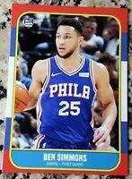 BEN SIMMONS 2016 #1 Draft Pick Rookie Card RC Logo 1986 Style Philadelphia 76ers