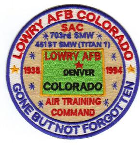LOWRY AFB, COLORADO, SAC, AIR TRAINING COMMAND     Y