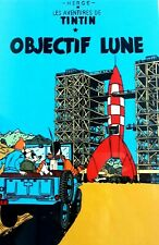 """Lacquer Herge Art Tintin Destination Moon Objectif Lune Wall Hanging 11 7/8"""""""