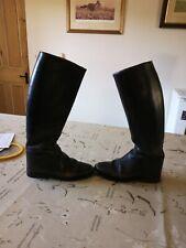 Vintage Regent Long Leather Riding Boots, Size 5