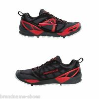 MENS BROOKS CASCADIA 9 BLACK RED WHITE TRAIL RUNNING TRAINING GYM RUNNERS SHOES