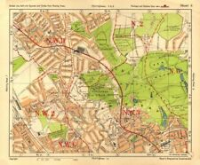 NW LONDON. Golders Green Hampstead Child's Hill Cricklewood. BACON 1928 map