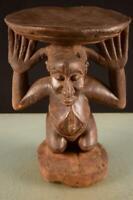 9151 Afrikanische Alte Luba Hocker DR Kongo Afrika