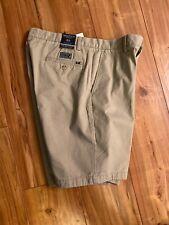 "Nautica Classic Fit Stretch 9"" Chino Deck Shorts True Khaki Mens Size 32 Tan NWT"