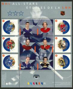Canada 2002 MNH Sheet, Sports, Ice Hockey Stars, NHL All stars