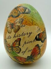 """Pier 1 Imports Easter Decorative Butterfly Egg Ornament New 5"""" X 3 1/2 """""""