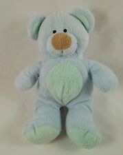 82e3bc56227 Ty Pluffies Bluebeary Blue Green Bear 2002 Beanie Plush Stuffed Baby Toy
