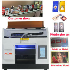 A4 UV Printer L800 Head & 6 Color for Phone Case Glass Metal Wood 3D Embossed US