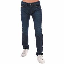 Mens Diesel Safado Button Fastening Stretch Fit Cotton Blend Jeans in Indigo