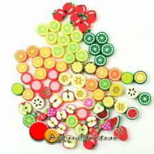 Various Beautiful Fimo Polymer Clay DIY Handmade Fruit Beads Hot 100pcs