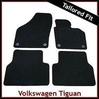 Volkswagen VW Tiguan Mk1 2007-2016 Tailored Carpet Car Floor Mats BLACK
