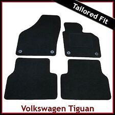VW Volkswagen Tiguan Mk1 2007-2016 Tailored Carpet Car Floor Mats BLACK