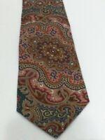 "Ralph Lauren Colorful Scroll Tapestry Mens Silk Tie 57.5"""