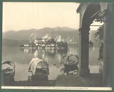 Piemonte. LAGO D'ORTA. Isola San Giulio. Foto d'epoca Alinari, circa 1920