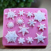 3D Silicone Snowflake Fondant Mold Christmas Cake Sugar Candy Decorating Baking