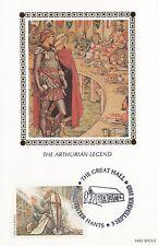 (93038) GB BENHAM FDC CARTOLINA arthurian legend WINCHESTER Grande sala 3 SETTEMBRE 1985