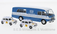 BMC TRANSPORTER + 2 MINI 1275 GT BRITANNIQUE LEYLAND NEEDERLAND 1/76 OXFORD