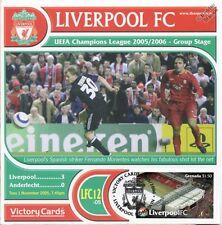 Liverpool 2005-06 Anderlecht/Fernando Morientes Football Stamp Victory Card #512