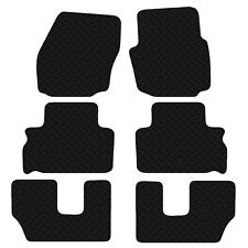 Ford S-Max 7 Seater 2006 to 2014 Black Floor Rubber Tailored Car Mat 3mm 6pc Set