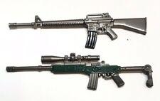 PUBG-(5+6): 1/12 scale metal toy M16A4 & Mini14 guns for 6