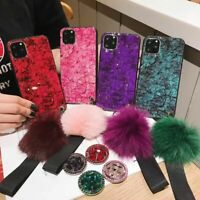 Luxury Bling Glitter Diamond Silicone Ring Holder Case for iPhone 11/11 Pro Max