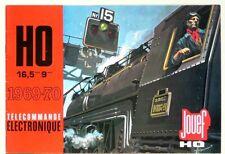CATALOGUE TRAINS ET CIRCUITS JOUEF HO - 1969-70 - TELECOMMANDE ELECTRONIQUE
