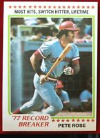 1978 Topps Baseball Card  #5 Pete Rose Legend Cincinnati Reds Sharp Card L@@K!