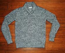 J. Lindeberg Mens L Sweater Shawl Collar Black & White Heathered