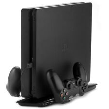 PS4 Slim Cooling Pad Stand Double Manette sans fil station de recharge Support Noir