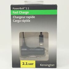 Kensington PowerBolt 2.1A Car Fast Charger with Hardwired Lightning Cable