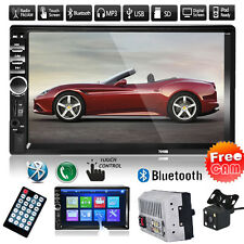 7'' 2DIN Bluetooth Touch Car Stereo Radio MP3 MP5 Player FM/USB/SD/AUX+Camera