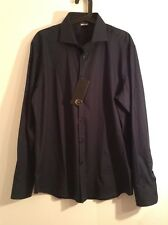 BNWT 100% Auth Just Cavalli Mens Navy Casual / Elegant Shirt. 43 RRP £240.00