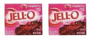 Jell-O Raspberry Gelatin Dessert Mix 2 Box Pack
