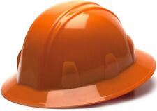 Pyramex 4 Point Full Brim Hard Hat With Ratchet Suspension Orange