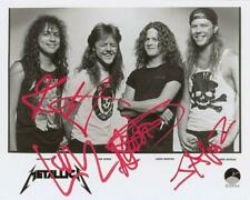 Reprint - Metallica James - Lars Band Signed 8 x 10 Glossy Photo Poster Rp