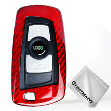 Carbon Fiber Keyless Remote Key Fob Flip Key  Case Cover  For BMW TXW-BMW-08