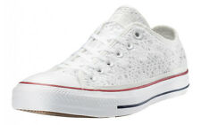 CONVERSE ALL STAR LIMITED IN PIZZO LOW DONNA SCARPE SPORTIVE LEGGERE BIANCHE