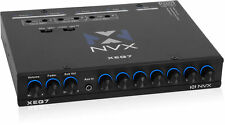 NVX XEQ7 7-Band Stereo Equalizer (1/2 DIN) w/ Dual Aux Input & Subwoofer Control