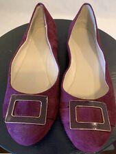 BANANA REPUBLIC Women's 8.5 Ballet Flats Purple Round Toe Buckle Shoes