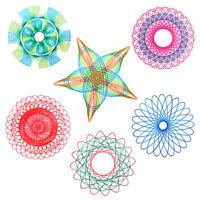22Stk Kreatives Zeichenspielzeug, Spiral Design, Lernspielzeug für Kin I1