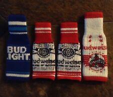 New listing 3 Budweiser 1 Bud Light Coozie Koozie bottle sweater
