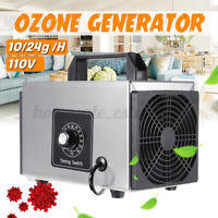Ozone Generator Air Purifier Air Cleaner Disinfection Sterilizer 110V 10/24g/h