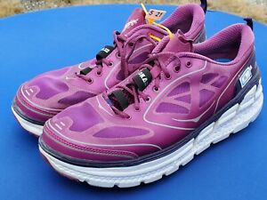 HOKA One One Womens Conquest Road Running Shoes Purple/Plum Size sz USw 11