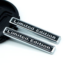 2x Silver Black Metal Chrome LIMITED EDITION Car Trunk Emblem Side Fender Badge