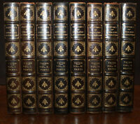 1895 History of English Literature Edition De Luxe TAINE 4 Vols in 8 Limited Ed