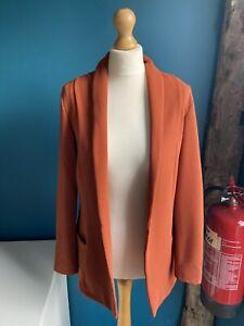 Papaya Burnt Orange Long Sleeve Jacket Size 8